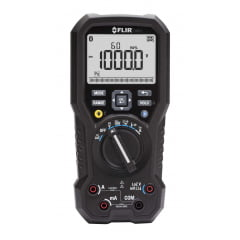 "Multímetro True RMS CAT IV Bluetooth Data Logger, VFD, LoZ, Led, Anti Queda ""Garantia Vitalícia limitada"" - Flir - DM-93"
